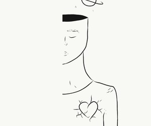 broken, drawing, and heart image