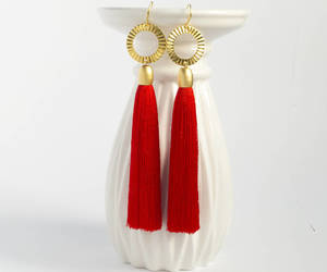 etsy, birthday gift, and red earrings image