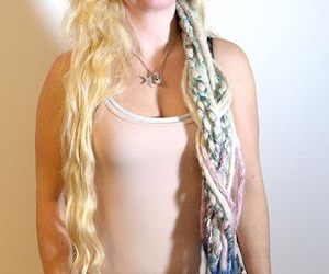 dreadlocks, dreads, and mermaid image