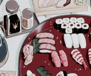anime, sushi, and japan image