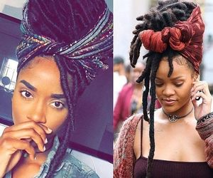 riri, locs, and faux locs image