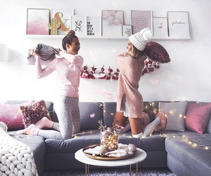 winter, fashion, and friendship image