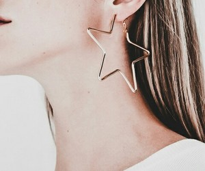 beauty, chic, and earring image