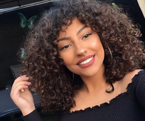 curls, curly, and curly hair image