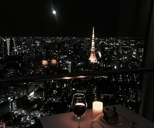 night, paris, and city image
