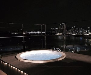 night, luxury, and jacuzzi image