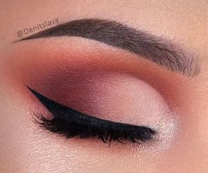 eyebrows, lashes, and eyeshadow image