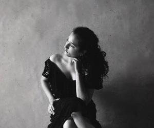 girl, black, and photograph image
