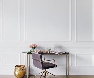 decor, desk, and minimalist image