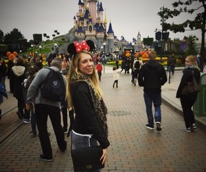 blonde, mickey mouse, and paris image
