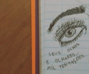 olhares, olhos, and poema image