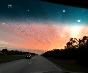 sky, sunset, and adventure image