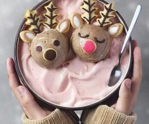 food, christmas, and reindeer image