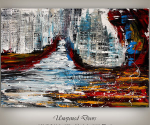 abstract, acrylic, and etsy image