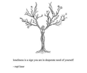 quotes, loneliness, and poetry image