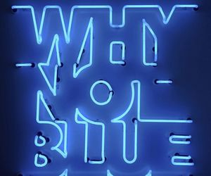 blue, question, and neon image