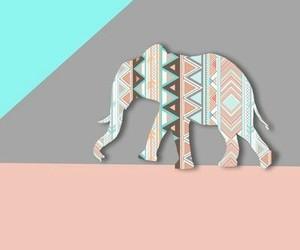 background, elephant, and pastel image