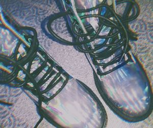 boots, iridescent, and iridescent boots image