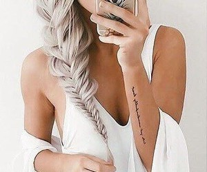 girl, summer, and Tattoos image