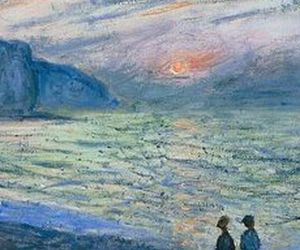 art, claude monet, and love image