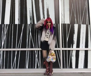 goth winter outfit, christmas goth fashion, and hipster goth style image