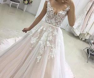 wedding, bridal, and dress image