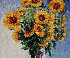 art and sunflowers image