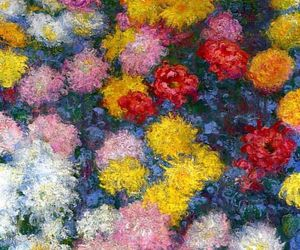 art, flowers, and monet image