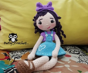 amigurumi, doll, and knitting image