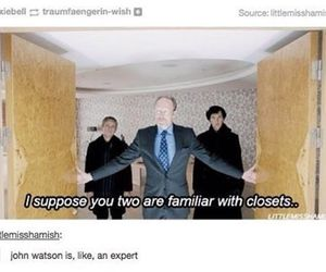 sherlock, funny, and tumblr image