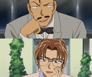anime, detective conan, and mouri kogoro image