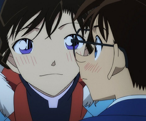 anime, edogawa conan, and mouri ran image