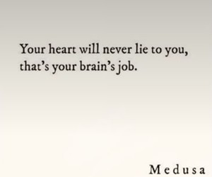 brain, heart, and lie image