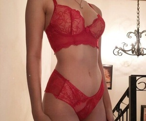 body, red, and lingerie image