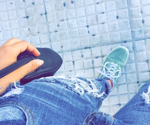 bolso, vans, and verde image
