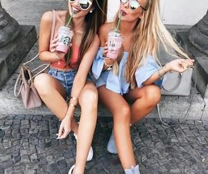 friends, starbucks, and friendship image
