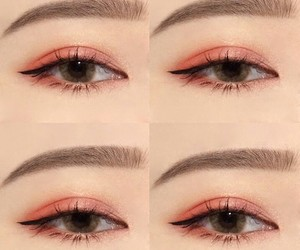 asian, brown, and contact lense image