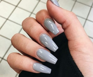 nails, grey, and style image