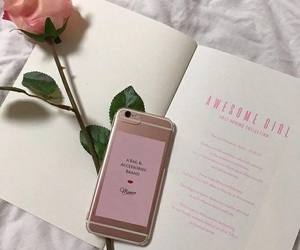 pink, rose, and book image