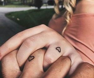 couple, goals, and tattoo image