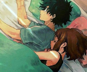 anime, couple, and boku no hero academia image