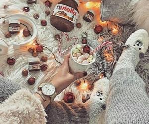 christmas, cozy, and hot chocolate image