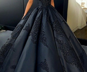 dress, black, and black dress image