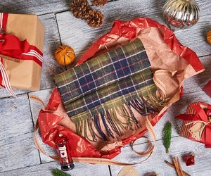 barbour, gift, and scarf image