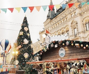 christmas, happy, and moscow image