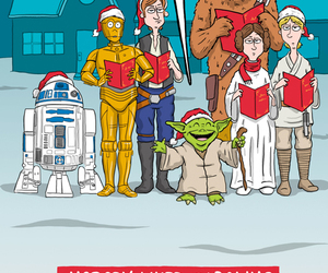 yoda, christmas, and star wars image