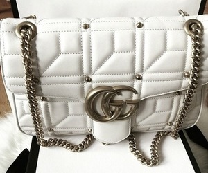 gucci, bag, and white image