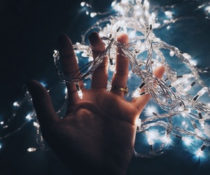 fairy, fairylights, and filter image