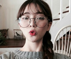 asian, glases, and ulzzang image