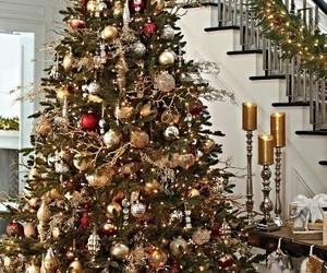 celebrate, christmas tree, and shopping image